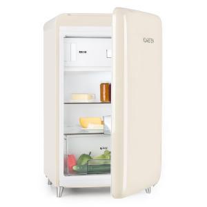 PopArt Cream Retro Refrigerator A ++ 108 l / 13 l Freezer Creme Creme