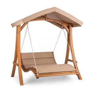Bermuda Bench Swing Garden Swing 130 cm 2-Seater Sun Sail