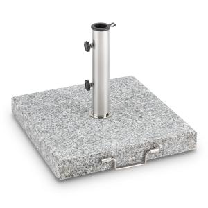 Schirmherr 30SQ Sun Umbrella Stand 30 kg Terrace Granite Grey Polished