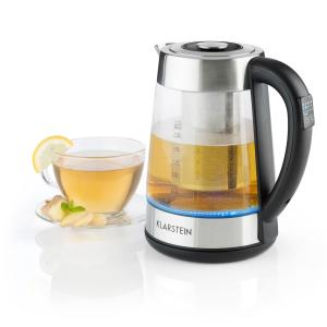 Ostfriese Electric Kettle 2-in-1 Teapot 1.7L 2200Wl LED Stainless Steel Glass