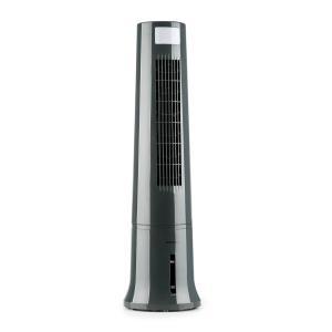 Highrise 3-in-1-Luftkühler Ventilator Luftbefeuchter 530 m³/h | 35 Watt | 2,5 Liter | 3 Geschwindigkeiten | Oszillation | Touch | Timer | Fernbedienung | mobil Grau