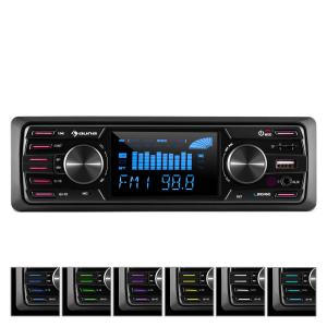 "MD-350BT autoradio zonder dek BT USB SD MP3 4x 45W max. 3"" LCD AUX afstandsbediening"