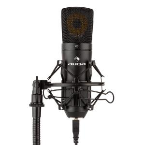 MIC-920B USB Condenser Microphone Studio USB Large Diaphragm Microphone Black
