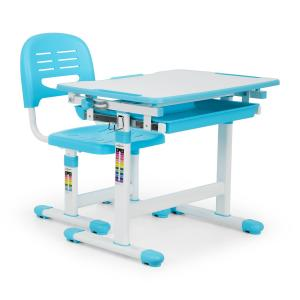 Tommi Children's Desk Set 2pcs. Table Chair Height Adjustable Blue
