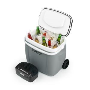 Picknicker Trolley Music Cooler 36l Nevera portátil-carrito Altavoz con Bluetooth gris Gris