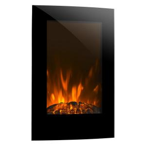 Lausanne Vertical Electric Fireplace 2000 Watts Remote Control Black