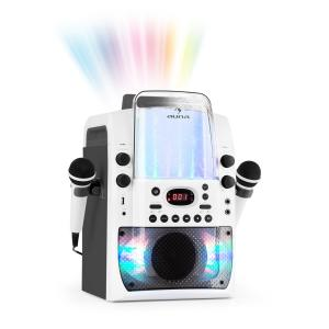 Kara Liquida BT Karaoke Machine Light Show Water Fountain BT White/Grey Grey