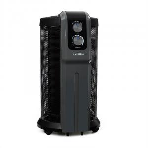 Datscha Analogo Calefactor 360° Termostato Ruedecillas Calor Integral 2000W negro/gris