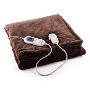 Dr. Watson L Electric Heating Blanket 120W Washable 150x100cm Microplush Brown Brown | L