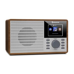 "IR-160 Internet Radio WLAN USB AUX UPnP 2.8"" TFT Display Remote Control Brown Brown"