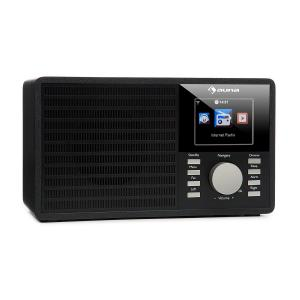 "IR-160 internetradio WIFI USB AUX UPnP 2.8"" TFT-display afstandsbediening - zwart Zwart"