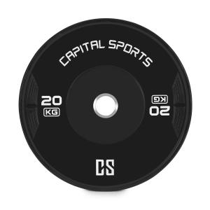 Elongate Bumper Plate Disco Peso Gomma 20kg 20 kg