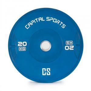 Nipton Bumper Plate Gewichtsplatte | 1 x 20 kg | Hartgummi 20 kg