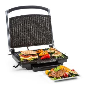 Edelstein Multi-Contact Grill Panini Maker 2000W 240 ° C Stainless Steel Silver