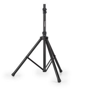 Speaker Alu luidsprekerstatief driepoot 130-200 cm 35 mm flens aluminium zwart