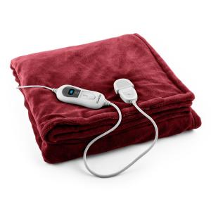 Dr. Watson XL Electric Heating Blanket 120W Washable 180x130cm Microplush Bordeaux Red | XL