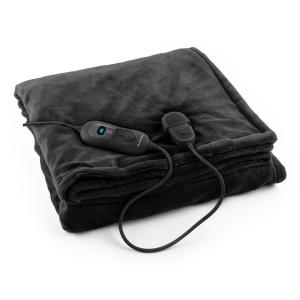 Dr. Watson XL Electric Heating Blanket 120W Washable 180x130cm Microplush Black Black | XL