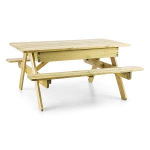 Zaubersand stół piknikowy dla dzieci stół do gier i zabaw piaskownica naturalne drewno sosnowe
