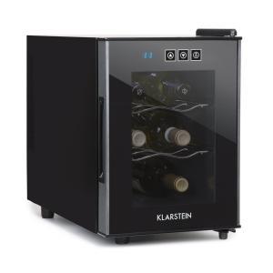 Ceres Wine Refrigerator 16 Litres 6 Bottles Touch 38 dB Glass Door Black