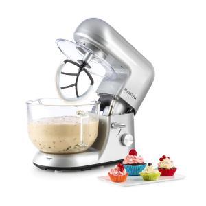 Bella Argentea 2G Robot de cuisine 1200W bol en verre 2,5/5 l - argent silver