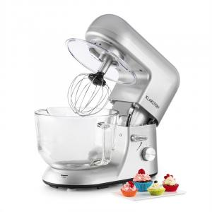 Bella Argentea 2G Küchenmaschine 1200W 2,5/5 Liter Glasschüssel silber Silber