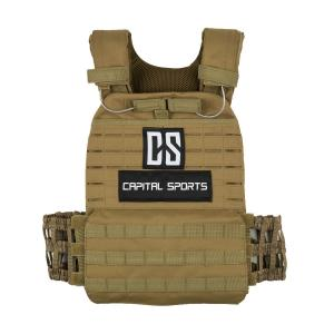 Battlevest Weight Vest with 2x2 weights 5,75 & 8,75 lbs Olive Olive