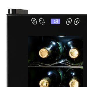 SaloonNapa Cave à vin 67L 2 portes vitrées 11-18°C - noir Noir