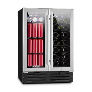 Beersafe XXXL Double Wine Refrigerator 116l 18 Bottles Glass Stainless Steel Silver | 116 Ltr