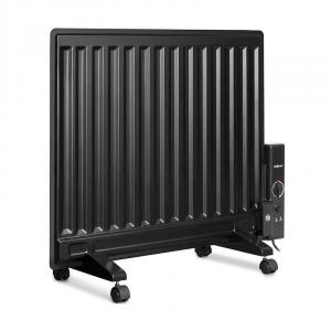 Wallander Oil Radiator 600W Thermostat Oil Heater Ultra Flat Black Black | 600 W