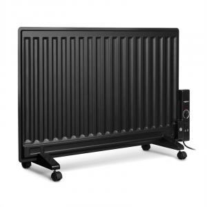 Wallander Oil Radiator 800W Thermostat Oil Heater Ultra Flat Black Black | 800 W