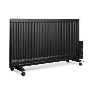 Wallander Oil Radiator 1000W Thermostat Oil Heater Ultra Flat Black Black | 1000 W