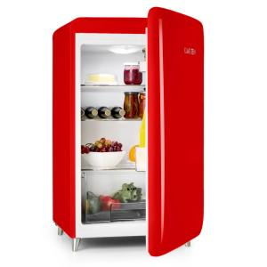 PopArt-Bar Red Fridge 136l Retro Design 3 Levels Vegetable Tray A+ Red