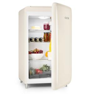 PopArt-Bar Creme Fridge 136l Retro Design 3 Levels Vegetable Tray A+ Creme