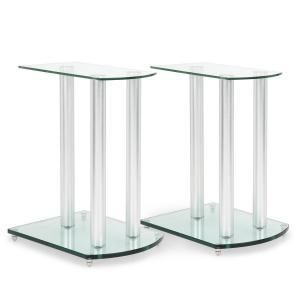 LS-46 pareja de soportes para altavoz cristal aluminio <10kg de carga
