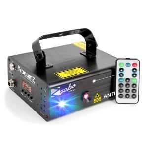 Anthe II tuplasäteilylaser 9 W RGB 12 goboa 7-DMX Master/Slave