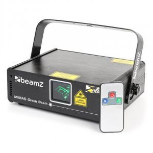 Mimas Show-Laser 50mW verde 9-DMX Master/slave sensible a la música mando a distancia
