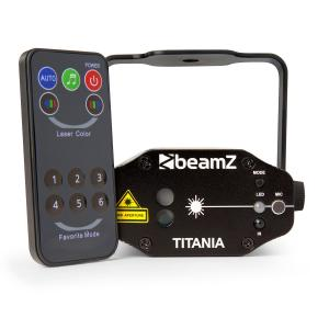 Titania Double Laser 200mW RG Gobo Laser Class 3B IR Remote Control