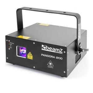 Pandora 1200 TTL laser RGB 12/23 DMX-kanalen laserklasse 4 zwart