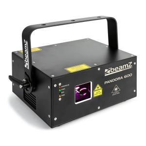Pandora 600 showlaser TTL RGB MIC DMX ILDA soundactief Master/Slave 400mW