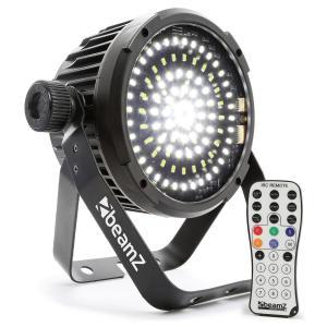 BS98 Foco LED Estroboscopio 98xLEDs SMD DMX blanco Mando a distancia por infrarrojos