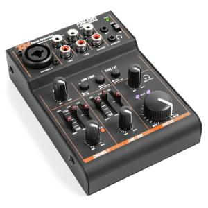 PDM-D301 3-Channel Mixer USB Mixer 2-Way Equalizer