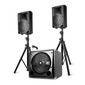 "VX800BT Set d'enceintes actives 2.1 800W 12"" Sub 2x8"" Speaker BT USB SD"