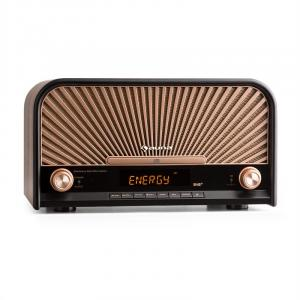 Glastonbury Aparelhagem de Som Retro DAB+ FM Bluetooth CD Leitor MP3