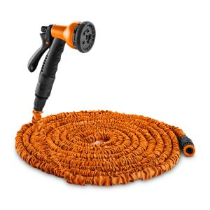 Water Wizard 22 Flexible Garden Hose 8 Functions 22.5 m Orange