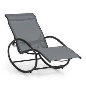 Santorini Rocking Chair Deck Chair Aluminum Polyester Grey Grey