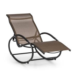 antorini Rocking Chair Deck Chair Aluminum Polyester Brown-Black Brown