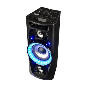 UltraSonic Pulse V6-40 zestaw audio glonik z mikrofonem akumulator BT USB MP3 AUX UKF LED