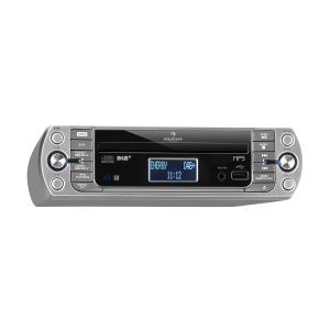 KR-400 CD keukenradio, DAB+/PLL FM, CD/MP3 player zilver Zilver