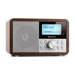 Worldwide Mini Internet Radio WIFI Network Player USB MP3 AUX FM-Tuner  Walnut