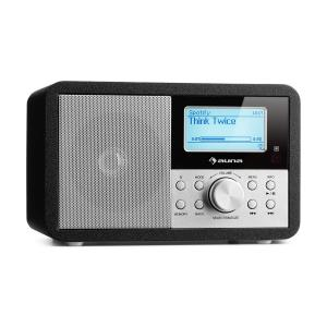 Worldwide Mini Internet Radio WIFI Network Player USB MP3 AUX FM-Tuner  Black